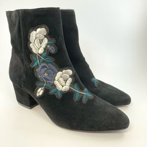 Steven by Steve Madden floral embroidered booties